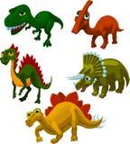 5 olika dinosaurs Arkivfoton