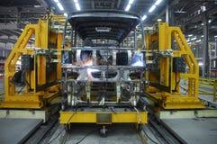 5 operator welding Στοκ εικόνες με δικαίωμα ελεύθερης χρήσης
