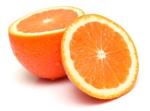 5 orange moget Arkivbild