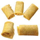 5 pancake accorciati da un tubo Fotografie Stock