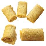 5 Pancakes curtailed by a tube Stock Photos
