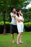 5 par älskar parkutgiftertid Royaltyfri Fotografi