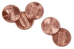 5 Pennies Royalty Free Stock Photography