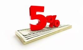 5 percent Stock Image