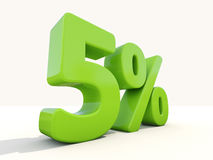 5% percentage rate icon on a white background. Five percent off. Discount 5%. 3D illustration Royalty Free Stock Image