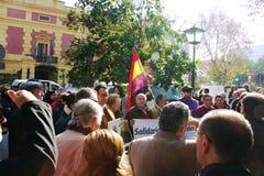 5 personer som protesterar Arkivfoton