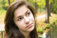 5 pięknych ciemnych dziewczyny włosy potomstw Fotografia Stock