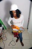 5 piękny budowy kobiety pracownik Obraz Royalty Free