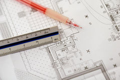 5 plan techniczny obrazy stock
