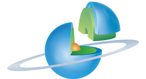 5 planetserie stock illustrationer