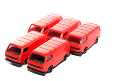 5 Plastic VW Van toy car Royalty Free Stock Image