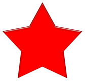 5 Point Star. 5 point Red star illustration at the white background Stock Image