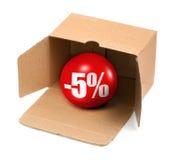 5 pojęć procentu sprzedaż Fotografia Royalty Free