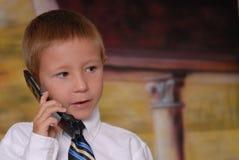 5 pojketelefonbarn Royaltyfria Bilder