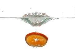 5 pomarańczy wody obraz royalty free