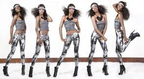 5 pose di modello Immagini Stock