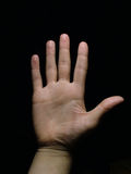 5 ręka zdjęcie stock