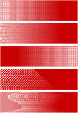 5 red square banners. These are 5 unique red square banners - illustrations stock illustration