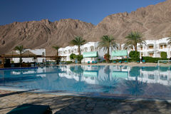 5 Resort in Dahab. Resort just outside of Dahab on the Red Sea in Egypt Royalty Free Stock Photos