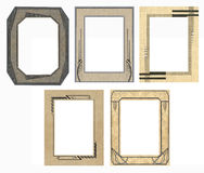5 Retro Photo Frames Royalty Free Stock Photography