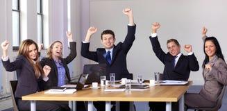 5 robić biznesowy gest ludzie zwycięstw Obrazy Royalty Free