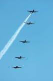 5 samolotów Obrazy Royalty Free
