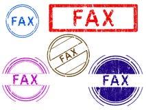 5 sellos de Grunge - FAX stock de ilustración