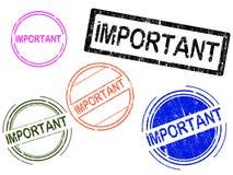 5 sellos de Grunge - IMPORTANTES stock de ilustración