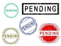 5 sellos de la oficina del efecto de Grunge - PENDIENTES stock de ilustración