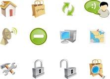 5 serii ikon varico sieci Zdjęcie Stock