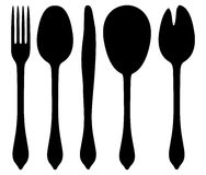 5 set cutlery Royalty Free Stock Image