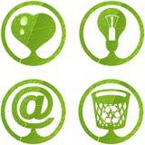 5 set tecken för eco royaltyfri illustrationer