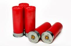 5 shelles de escopeta Imágenes de archivo libres de regalías