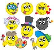 5 smileys различных Стоковые Изображения
