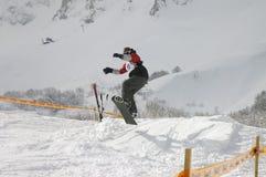 5 snowboard Fotografia Stock