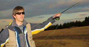 5 som flyfishing Royaltyfria Bilder