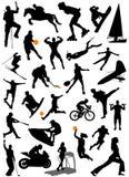 5 sportowych zbierających wektorowych Obraz Stock