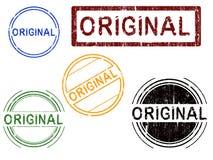 5 stämplar för original för effektgrungekontor Royaltyfri Fotografi