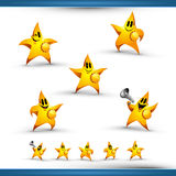 5 Star Character Icon Set Stock Photos