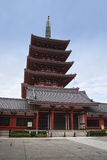 5 stories pagoda of the Senso-ji Temple Stock Photos