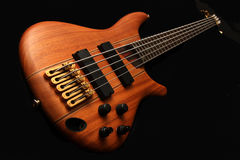 5 string electric bass royalty free stock photography