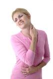 5 szyi bólu surowa kobieta Zdjęcia Stock