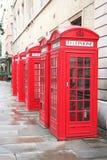 5 telefoondozen Stock Foto
