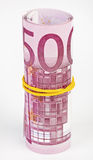 5 thousand Euro rolled up Stock Photo
