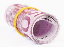 5 thousand Euro rolled up Royalty Free Stock Photos