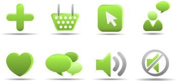 5 trawy ikony serii ustalają sieci Zdjęcie Stock