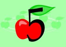 5 um o dia! ilustração royalty free