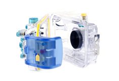 5 undervattens- kamerahusserie Arkivfoto