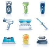 5 urządzeń gospodarstwa domowego ikon część wektor Obraz Stock