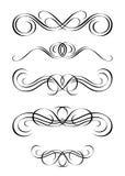 5 versies van samenvatting ornamen stock illustratie